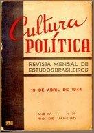 Capa de hum Número da revista Cultura Política, 19 de abril de 1944.