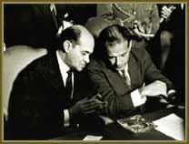Presidente João Goulart (à dir) e o primeiro-ministro Tancredo Neves. Jun 1962.